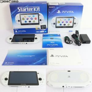 『中古即納』{訳あり}{本体}{PSVita}PlayStation Vita Starter Kit(スターターキット) グレイシャー・ホワイト(PCHJ-10029)(20160303)|mediaworld-plus