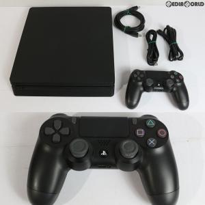 『中古即納』{訳あり}{本体}{PS4}プレイステーション4 PlayStation4 ジェット・ブラック 500GB(CUH-2100AB01)(20170724)|mediaworld-plus