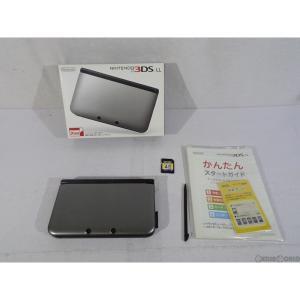 『中古即納』{訳あり}{本体}{3DS}ニンテンドー3DS LL シルバー×ブラック(SPR-S-VKAA)(20120728)|mediaworld-plus