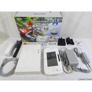 『中古即納』{訳あり}{本体}{WiiU}Wii U すぐに遊べる マリオカート8 セット シロ/shiro/白(WUP-S-WAGH)(20141113)|mediaworld-plus