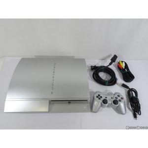 『中古即納』{訳あり}{本体}{PS3}プレイステーション3 PlayStation3 HDD80GB サテン・シルバー(CECH-L00SS)(20081130)|mediaworld-plus