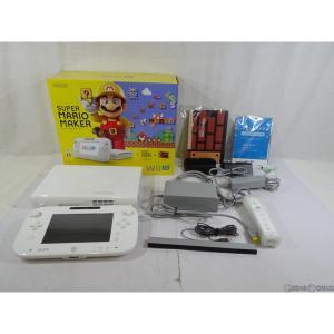 『中古即納』{訳あり}{本体}{WiiU}Wii U スーパーマリオメーカー セット(Wii Uプレミアムセット shiro/シロ/白)(WUP-S-WAHA)(20150910)|mediaworld-plus