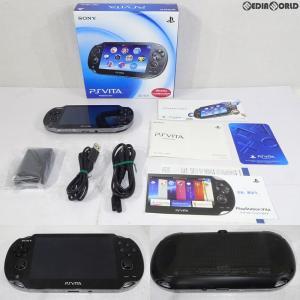 『中古即納』{訳あり}{本体}{PSVita}PlayStation Vita 3G/Wi-Fiモデル クリスタル・ブラック(PCH-1100AA01)(20111217)|mediaworld-plus
