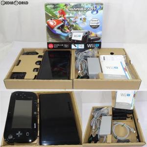 『中古即納』{訳あり}{本体}{WiiU}Wii U すぐに遊べる マリオカート8 セット クロ/kuro/黒(WUP-S-KAGH)(20141113)|mediaworld-plus