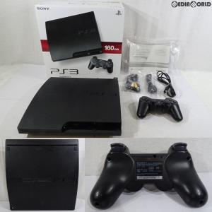 『中古即納』{訳あり}{本体}{PS3}プレイステーション3 PlayStation3 HDD160GB チャコール・ブラック(CECH-3000A)(20110709)|mediaworld-plus