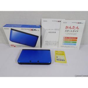 『中古即納』{訳あり}{本体}{3DS}ニンテンドー3DS LL ブルー×ブラック(SPR-S-BAKK)(20121011)|mediaworld-plus