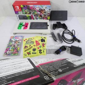 『中古即納』{訳あり}{本体}{Switch}Nintendo Switch(ニンテンドースイッチ) スプラトゥーン2セット(HAC-S-KACEA)(20170721)|mediaworld-plus
