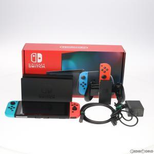 『中古即納』{訳あり}{本体}{Switch}Nintendo Switch(ニンテンドースイッチ) Joy-Con(L) ネオンブルー/(R) ネオンレッド(HAD-S-KABAA)(20190830) mediaworld-plus