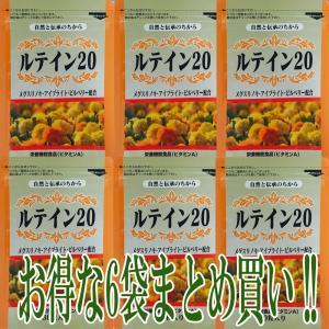 メディワン ルテイン20 6袋 (300mg×30粒) 約6ヶ月分 1粒にルテイン20mg配合|medione1