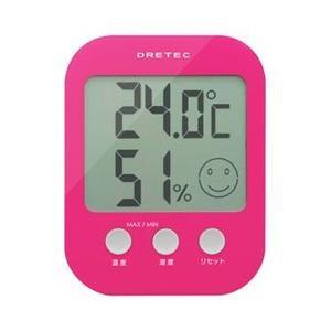 【ドリテック】デジタル温湿度計 オプシス ピンク O−230PK ☆家電 ※お取り寄せ商品|medistock