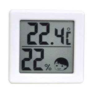 【ドリテック】小さいデジタル温湿度計 ホワイト O−257WT ☆家電 ※お取り寄せ商品|medistock