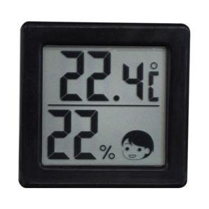 【ドリテック】小さいデジタル温湿度計 ブラック O−257BK ☆家電 ※お取り寄せ商品|medistock
