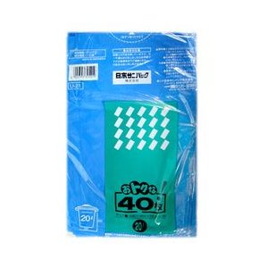 【日本サニパック】たっぷりごみ袋 20L 青 40枚 U−21 ◆お取り寄せ商品|medistock