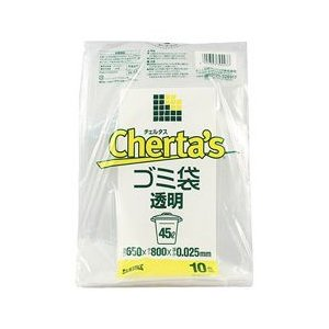 【日本サニパック】チェルタスごみ袋45L透明 10枚 H−43 ◆お取り寄せ商品|medistock