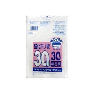 【日本サニパック】強化ポリ袋 ワイド 30L 半透明 30枚入 UH34 ◆お取り寄せ商品|medistock