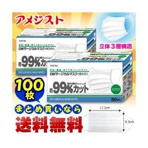 なんと!あの医療用品ブランド【アメジスト】の本格派サージカルマスク(立体3層構造)が、100枚まとめ買いで送料無料&毎日ポイント10倍! medistock
