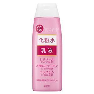 海洋性コラーゲン、ヒアルロン酸、ローズマリーエキス配合の保湿化粧水です。化粧水+乳液の瞬間ダブル保湿...