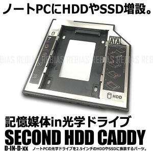 ノートPCの光学ドライブを、 2.5インチのハードディスクや SSDに換装するためのマウンタ。  ノ...