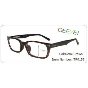 パソコン用レンズ 歪みの少ない薄型レンズ付きメガネセット(TR9155)|meganeno1