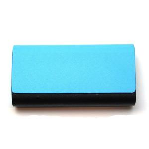 アルミレザー2本収納ケース 2401-02 ブルー/ブラック【ハードケース】【アルミ素材】【マグネット式】|meganenohirata
