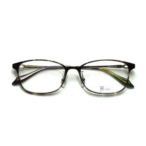 薄型レンズ付メガネセット Hamamoto H ハマモト エイチ H 1154-1 デミ【レディース】【女性用】【日本製】【軽量フレーム】【フルリム】|meganenohirata