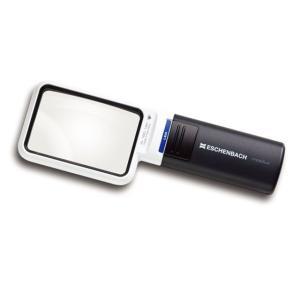 ルーペ LEDライト付きハンドルーペ エッシェンバッハ モビラックス 角型4倍 レンズ75×50mm|meganeshop