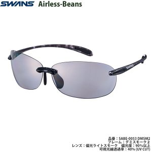 スポーツサングラス スワンズ SWANS Airless-Beans SABE-0053 color:DMSM2|meganeshop