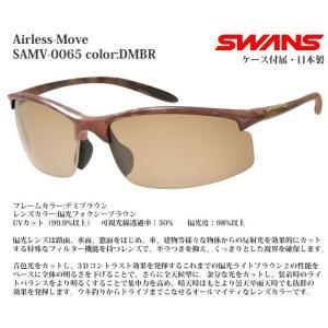 スポーツサングラス スワンズ SWANS Airless-Move SAMV-0065 color:DMBR偏光レンズ|meganeshop