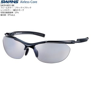 SWANSスポーツサングラス Airless-Core SACR-0051 BK|meganeshop