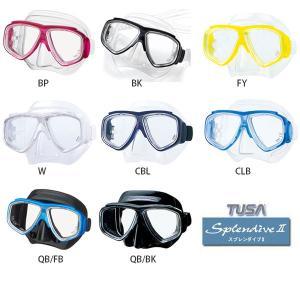 TUSAダイビングマスク Splendive-II M-7500 レディメイド度付きレンズセット|meganeshop