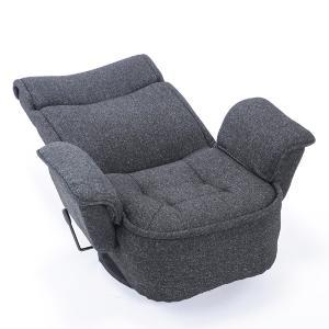 送料無料 座椅子 座いす 座イス 肘掛け 肘付 回転 レバー式 リクライニング グリッジョ|megaplain|04