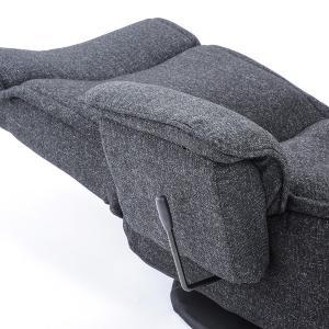 送料無料 座椅子 座いす 座イス 肘掛け 肘付 回転 レバー式 リクライニング グリッジョ|megaplain|06