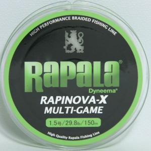 ラパラ(Rapala) ラピノヴァ・エックス マルチゲーム ライムグリーン 1.5号 150m 29.8LB|megaproductjp