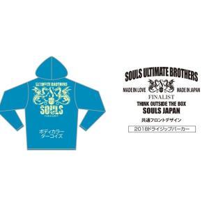 ソウルズ(SOULS) 2018 4.4オンス ドライジップパーカー ターコイズ Mサイズ|megaproductjp