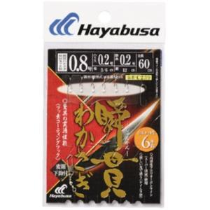 ハヤブサ(Hayabusa) 瞬貫わかさぎ 秋田キツネ 6本鈎 変則下鈎付 C239 0.8号、1号、1.5号|megaproductjp