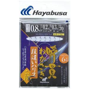 ハヤブサ(Hayabusa) 瞬貫わかさぎ 段違いハリス二段 6本鈎 C247(0.8号、1号、1.5号)|megaproductjp