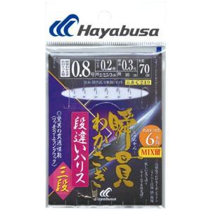 ハヤブサ(Hayabusa) 瞬貫わかさぎ 段違いハリス三段 6本鈎 C249 0.8号、1号、1.5号|megaproductjp