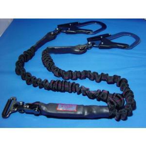 2丁掛け用 ランヤード KH  安全帯 ジャバラ 15-15 D環 タイプ|megawork