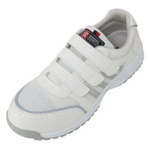コーコス A 45000 安全靴 女性サイズ対応 22.5cm 23cm 23.5cm 29cm 30cm セフティスニーカー マジックタイプ|megawork
