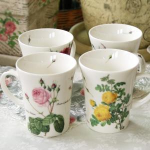 ルドゥーテ マグカップ  日本製 バラ 薔薇 ローズ Pierre-Joseph Redoute イギリス雑貨 結婚祝い お返し|meggie
