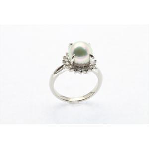 アコヤ真珠8.3mm[花珠]ダイヤモンドリングPt900 新品 レディース megumi-1 03