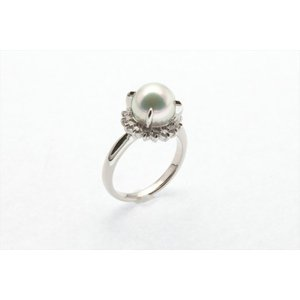 アコヤ真珠8.3mm[花珠]ダイヤモンドリングPt900 新品 レディース megumi-1 04