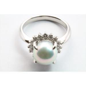 アコヤ真珠8.3mm[花珠]ダイヤモンドリングPt900 新品 レディース megumi-1 07
