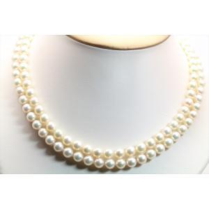 あこや 本真珠 2連 ネックレス SV925 新品 レディース|megumi-1|05