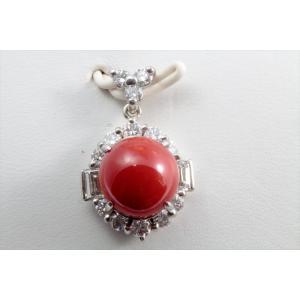 天然赤珊瑚 ダイヤモンドペンダントトップ PT900|megumi-1|05