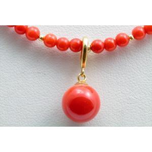 エレガントな魅力 天然赤珊瑚 ネックレス K18|megumi-1