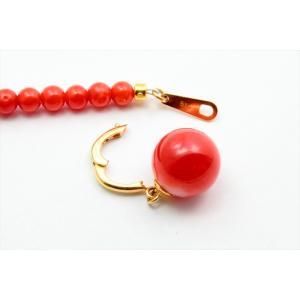 エレガントな魅力 天然赤珊瑚 ネックレス K18|megumi-1|04
