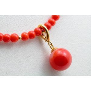 エレガントな魅力 天然赤珊瑚 ネックレス K18|megumi-1|06