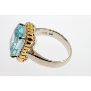 大粒アクアマリン ダイヤモンドリング PT900/K18|megumi-1|03