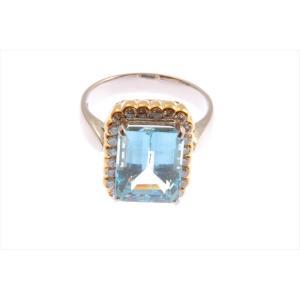 大粒アクアマリン ダイヤモンドリング PT900/K18|megumi-1|05